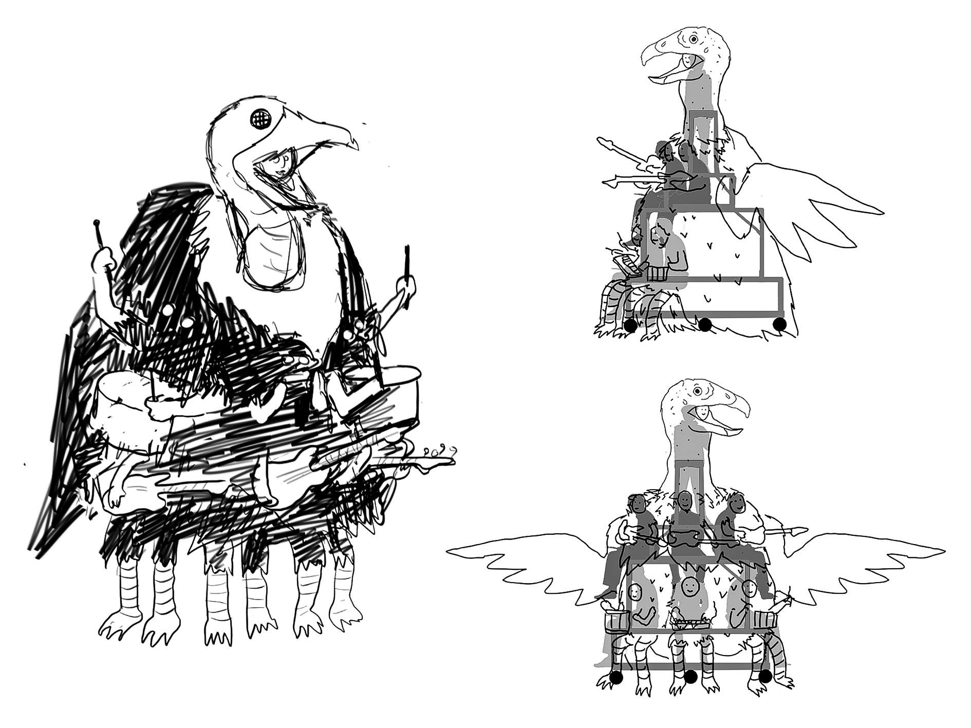people-vultures_Drawings